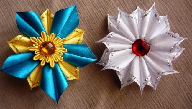 Цветы - канзаши