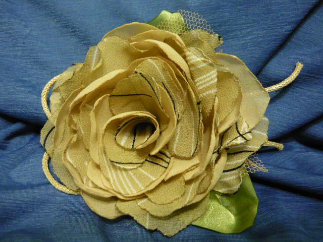 Декоративные цветы из шифона