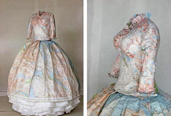 Платья из карт своими руками