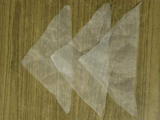 Броши - цветы из ткани