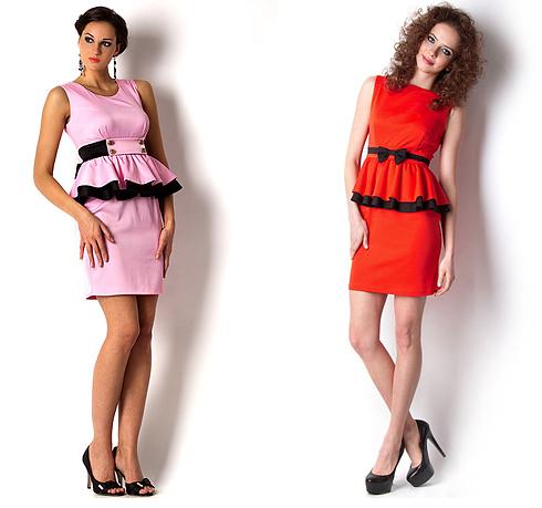 Платье с баской на какую фигуру