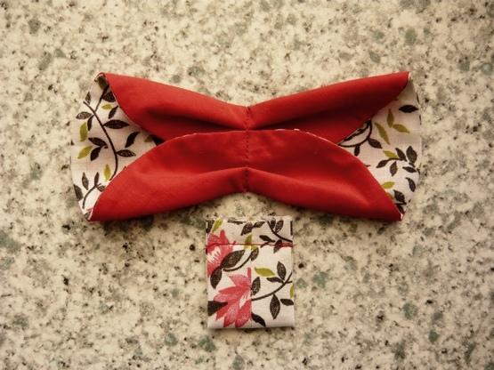Как сделать бантик - бабочку из ткани
