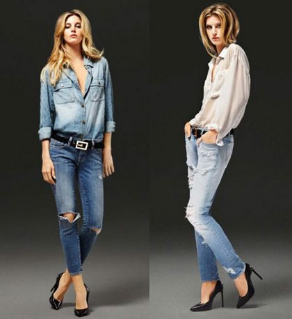 Как правильно выбрать потертые джинсы