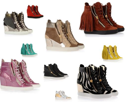 С чем носить кроссовки на платформе