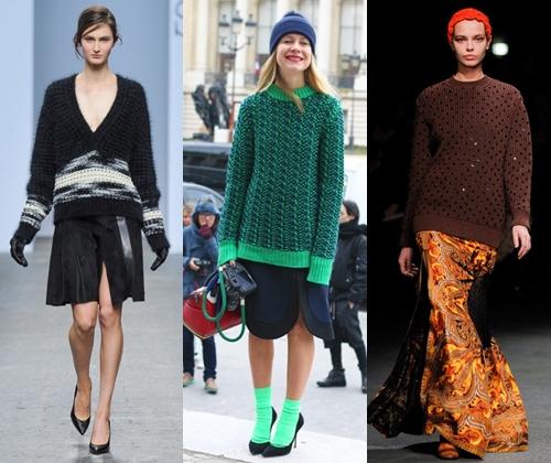 Модные  женские  свитера  сезона  2014-2015  года