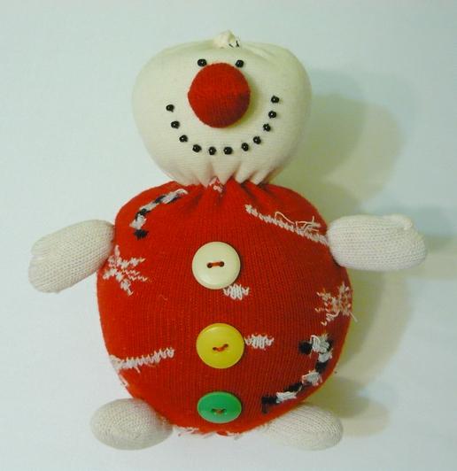 Новогодний   снеговичок   своими  руками