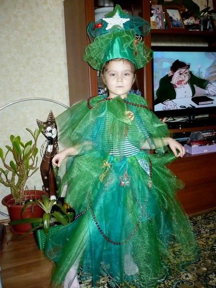 Новогодний костюм елочки для девочки