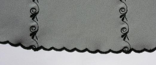 Юбка полусолнце с машинной лучевой вышивкой