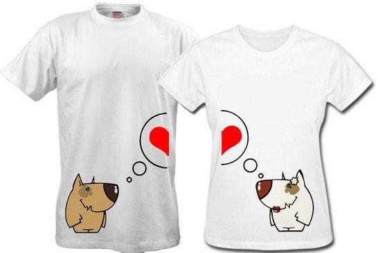 Креативные парные футболки для влюбленных