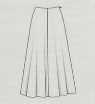 Выкройка юбки-колокол длиной в пол