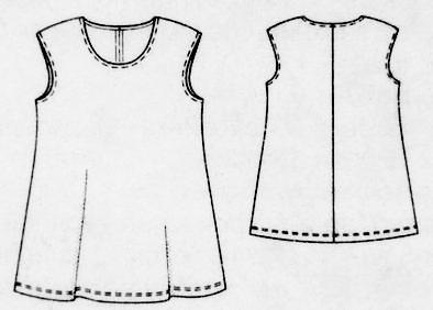 Большой размер туника платье
