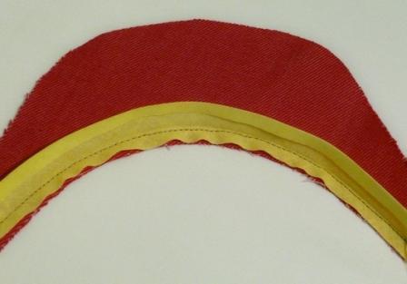 Способ обработки горловины косой бейкой