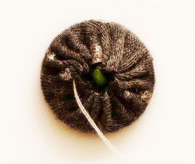 Декорирование пуговиц при помощи ткани