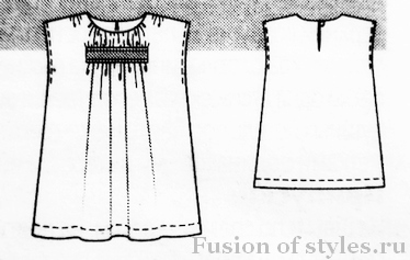 Простое платье для девочки
