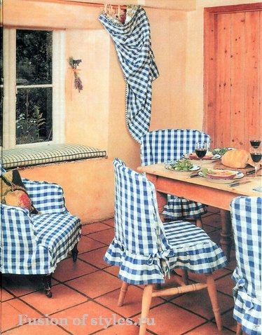 Чехлы для стульев в интерьере дома