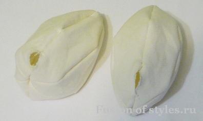 Пасхальные яйца из ткани