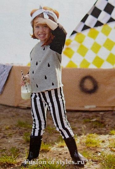 Детский пуловер из трикотажа