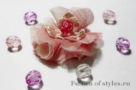 Изготовление декоративных цветов из ткани