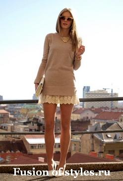 Кружевные платья в женском гардеробе