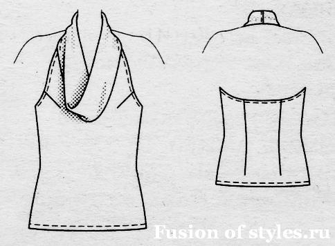 Летняя блузка топ из шифона