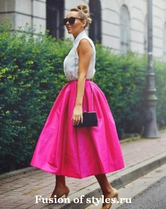 Пышная юбка со складками как сшить