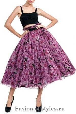 Модные пышные юбки. Какие они?