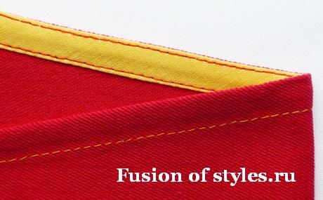 Обработка открытых срезов косой бейкой