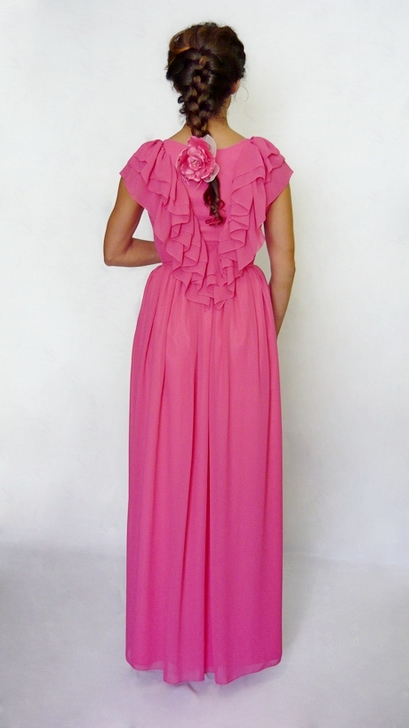 Платье из шифона в пол.