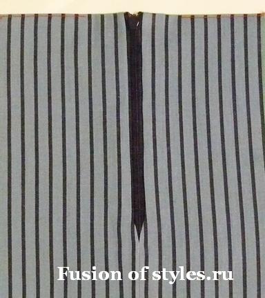 Как пришить подкладку к юбке