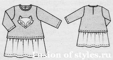 d4d17058bfe Трикотажное платье для девочки