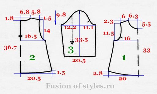 Трикотажные платья для девочек выкройки