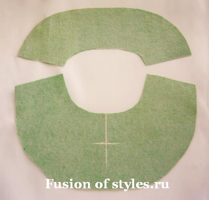 Обработка горловины с разрезом обтачкой
