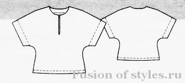 Трикотажный топ с цельнокроеными рукавами кимоно