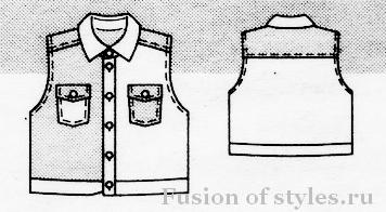 Джинсовая куртка жилетка для девочки