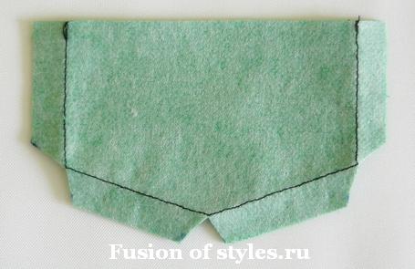 Пошив накладного кармана с клапаном