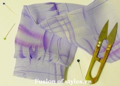 Пошив длинного рукава с манжетой