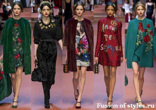 Показ Dolce@Gabbana осень зима 2015 2016 года в Милане