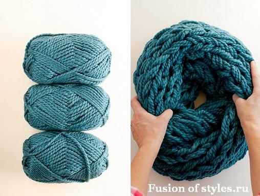Интересные способы вязания шарфа снуда на видео