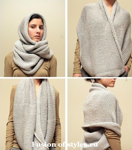 Что такое шарф снуд и как его носить