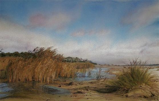 Вышитые пейзажи Jill Draper
