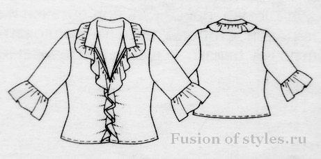 Женская блузка из кружева