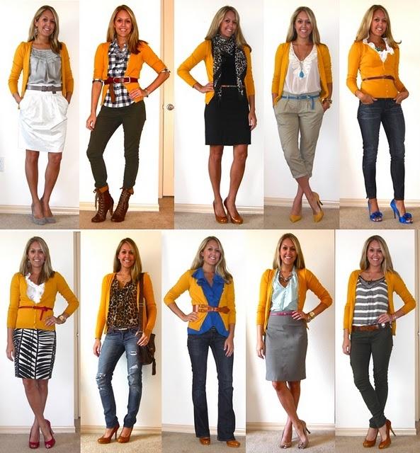 Как создать разнообразные комплекты женской одежды из небольшого количества вещей
