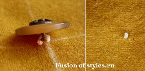 Как правильно пришить пуговицу на ножке
