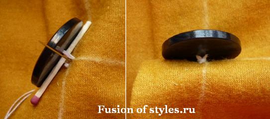 Как правильно пришить пуговицу к пальто