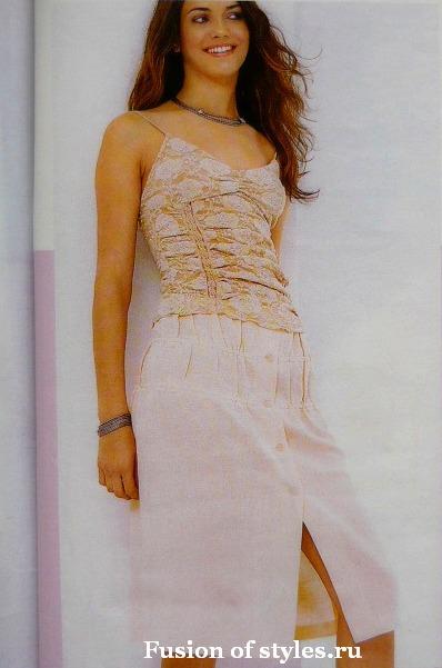 Прямая летняя юбка на пуговицах,юбка на резинке