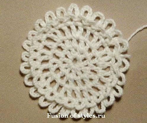 Декоративный цветок своими руками,цветок связанный крючком