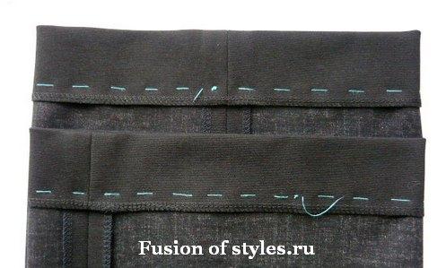 Как подшить брюки на швейной машине