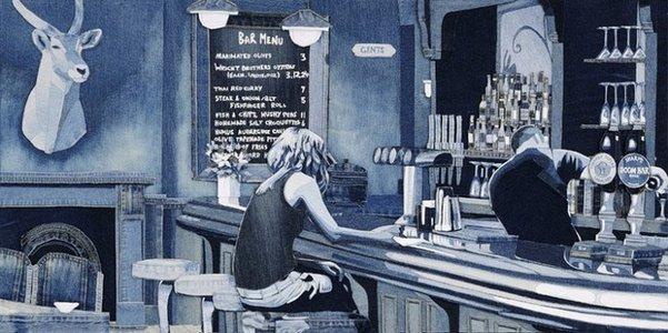 Лоскутные картины из джинсов британского художника Яна Берри