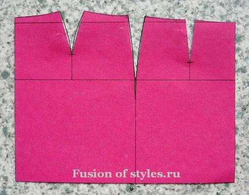 Построение основы прямой юбки
