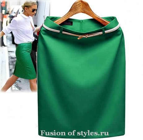Раскладка выкройки прямой юбки на ткани